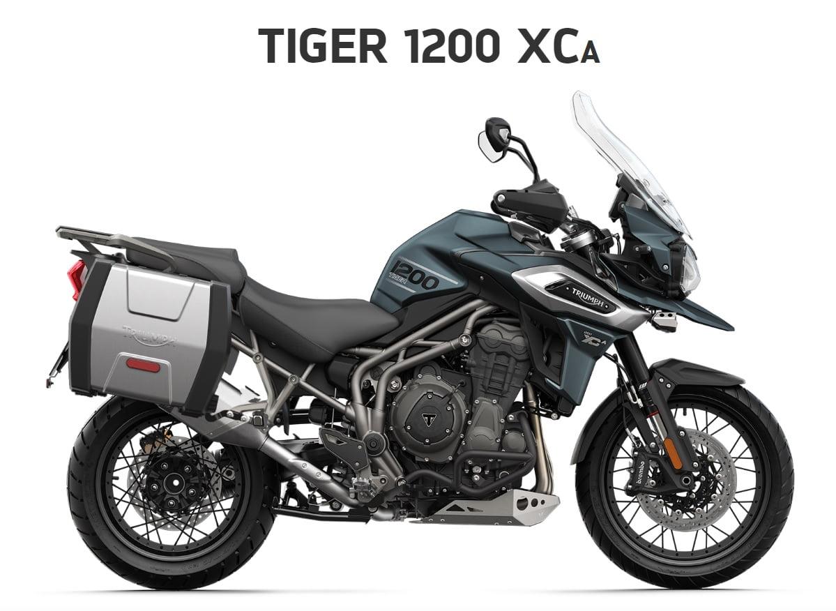 Triumph Tiger 1200 XCA  Farba: matná marine  Stav km: 0  Cenníková cena motocykla vrátane doplnkov: 20 921,- €. Akciová cena vrátane doplnkov: 18 577,- €. Doplnky v hodnote 1128,- € v cene motocykla.…