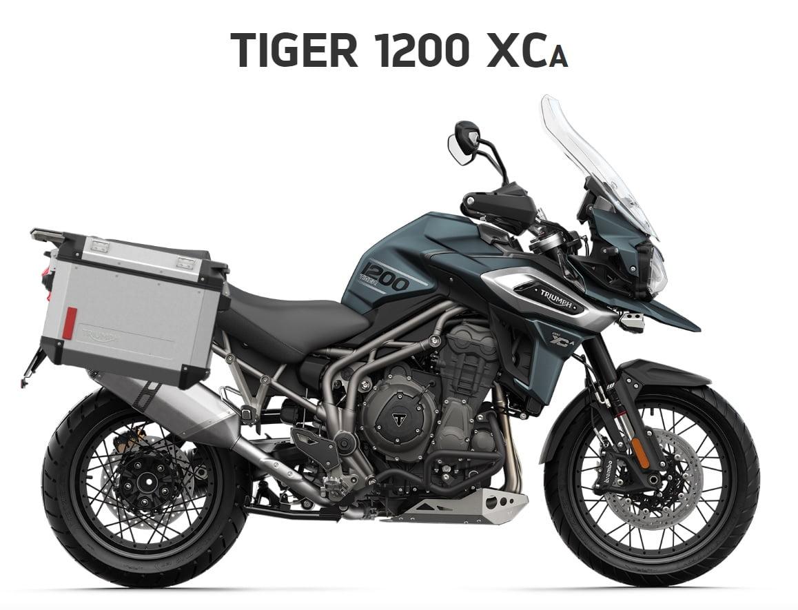 Triumph Tiger 1200 XCA  Farba: matná marine  Stav km: 0  Cenníková cena motocykla vrátane doplnkov: 20 830,-€. Akciová cena vrátane doplnkov: 19 595,-€. Doplnky v hodnote 1235 ,- € v cene motocykla. Ponuka…