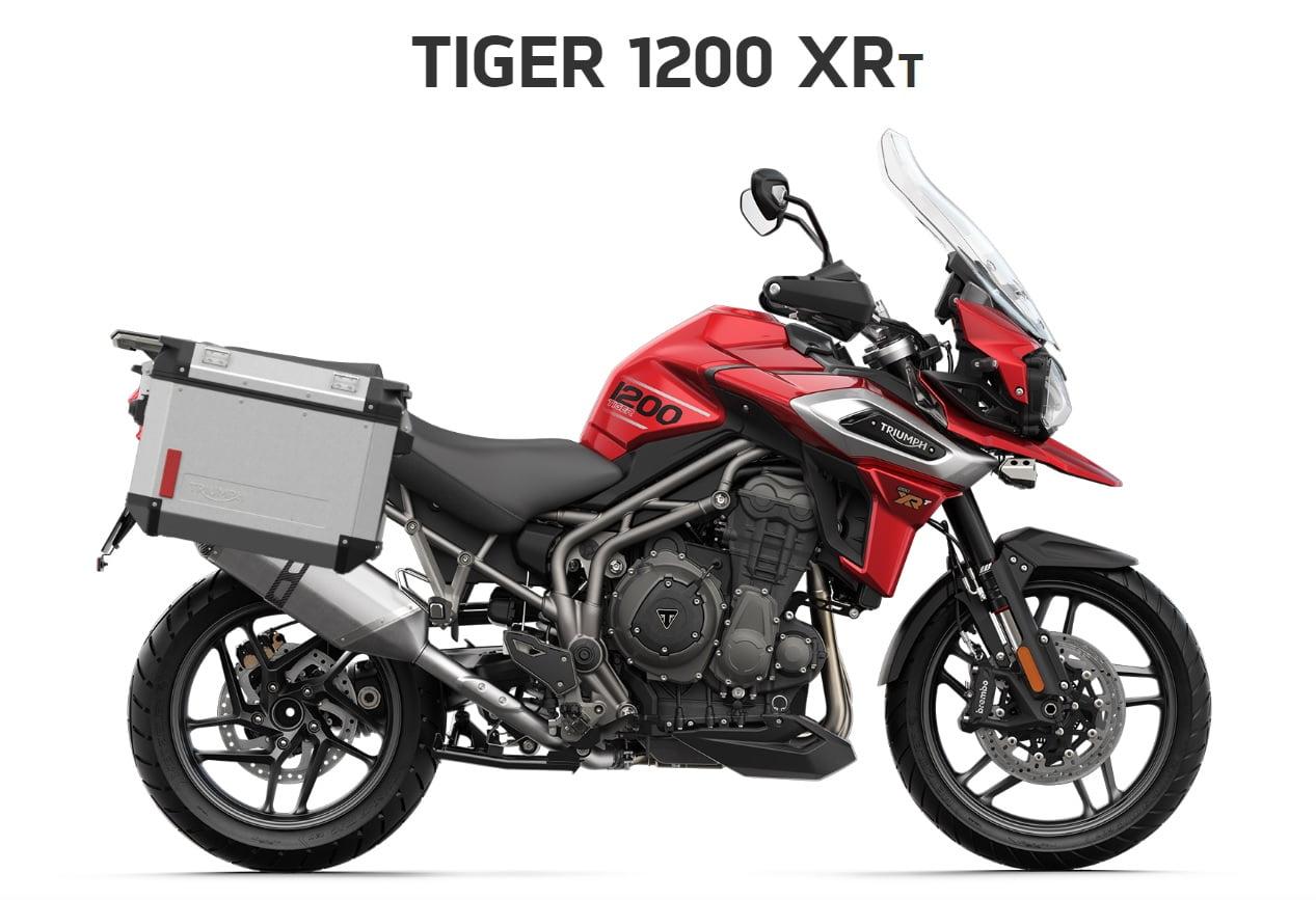Triumph Tiger 1200 XRT  Farba: červená  Stav km: 0  Cenníková cena motocykla vrátane doplnkov: 19 630,- €. Akciová cena vrátane doplnkov: 18395,- €. Doplnky v hodnote 1235 ,- € v cene motocykla. Ponuka…