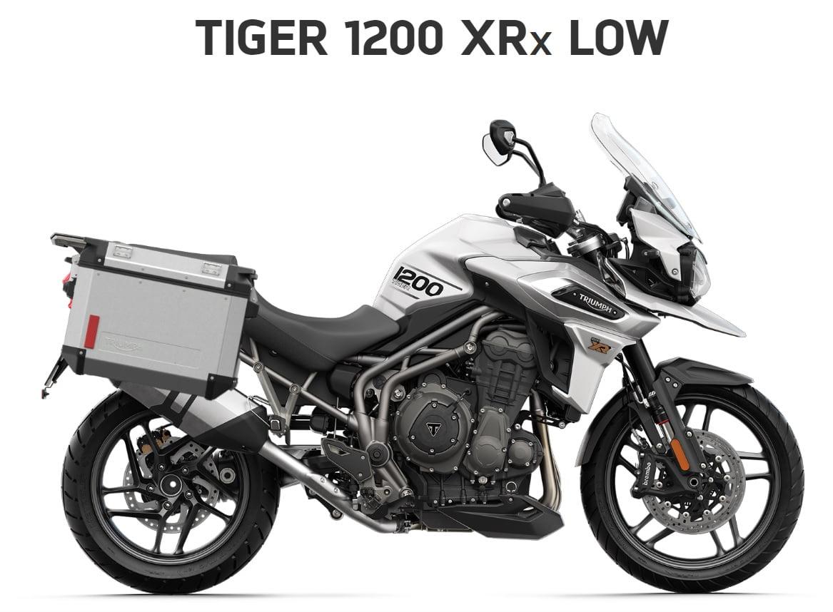 Triumph Tiger 1200 XRX low seat  Farba: biela  Stav km: 0  Cenníková cena motocykla vrátane doplnkov: 19 630,- €. Akciová cena vrátane doplnkov: 18395,- €. Doplnky v hodnote 1235 ,- € v cene…