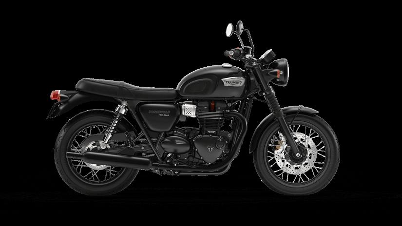 Triumph Bonneville T100 black  Farba: čierna  Stav km: 0  Cenníková cena 9 797,- € pri financovaní cez ČSOB leasing alebo úver 9 120,- €  Akciová cena pri platbe vhotovosti 9 307,- €  Pri kúpe motocykla…