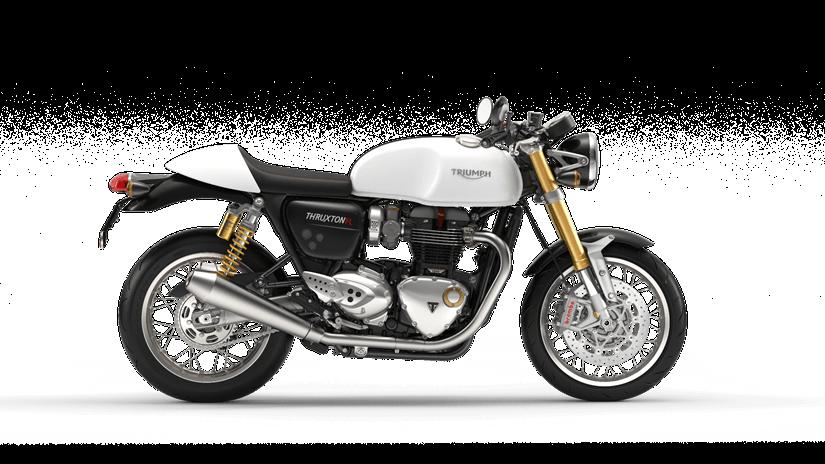 Triumph Thruxton 1200 R  Farba: biela  Stav km: 752  Cenníková cena 14 868,- € pri financovaní cez ČSOB leasing alebo úver 13 800,- €  Akciová cena pri platbe vhotovosti 14 120,- €  Pri kúpe motocykla…