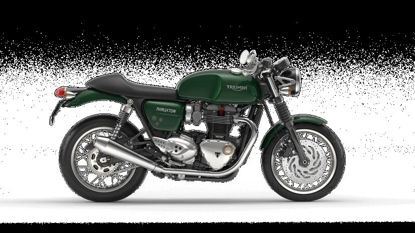 Triumph Thruxton 1200  Farba: zelená  Stav km: 0  Cenníková cena 12 745,- € pri financovaní cez ČSOB leasing alebo úver 11865,60,- €  Akciová cena pri platbe vhotovosti 12107,75,- €  Pri kúpe motocykla za cenníkovú cenu…