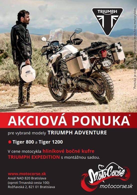 Triumph Tiger 800 a Tiger 1200 Akciová ponuka – Bočné kufre v cene motocykla  …