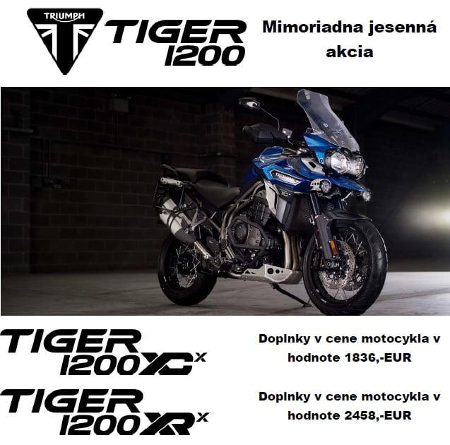 Doplnky k modelu Tiger 1200 XCX v cene motocykla v celkovej hodnote 1836,-EUR    Motocykle ihneď k odberu  Tiger 1200 XCX, farba: matt khaki green teraz za15 970,-EUR (cenníková cena bez doplnkov 18…
