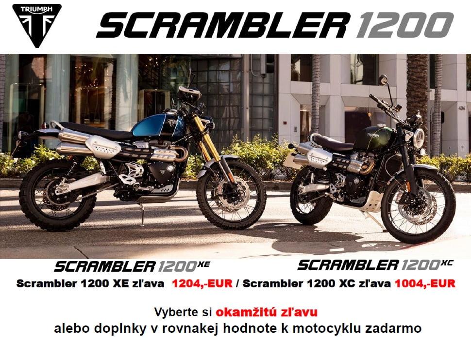 Využite akciovú ponuku na motocykle Triumph Scrambler 1200 XC a Scrambler 1200 XE.  Vyberte si okamžitú zľavu:  Scrambler 1200 XC okamžitá zľava až vo výške 1004,- EUR  Scrambler 1200 XE okamžitá zľava až…